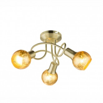 GLOBO 54841-3D | Tigre-Zacate Globo stropné svietidlo 3x E14 matný zlatý, zlatý