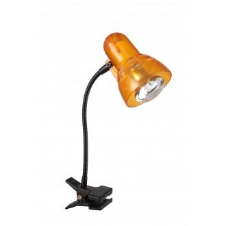GLOBO 54852 | Clip Globo štipcové svietidlo prepínač flexibilné 1x E14 čierna, pomaranč