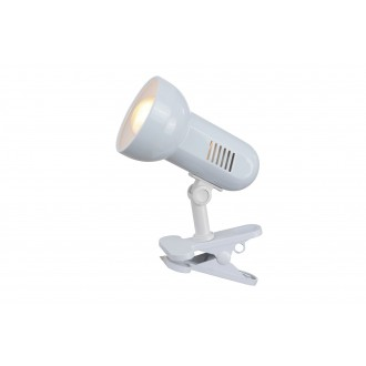 GLOBO 5496 | Basic-III Globo štipcové svietidlo prepínač na vedení 1x E27 biela
