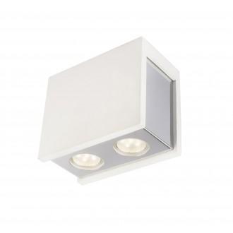 GLOBO 55010-2D | Christine-Timo Globo stropné svietidlo 2x GU10 chróm, biela