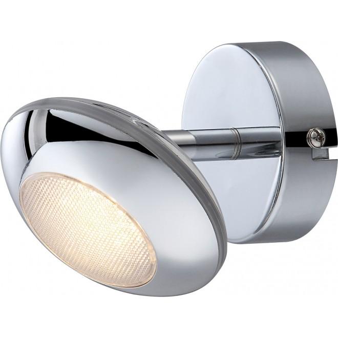 GLOBO 56217-1   Gilles Globo spot svietidlo otočné prvky 1x LED 350lm 3000K chróm, opál