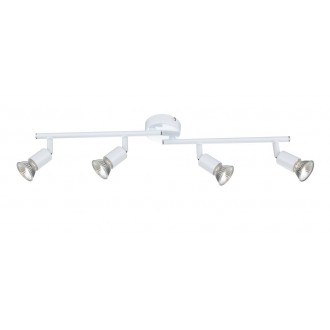 GLOBO 57381-4 | Olana-Oliwa Globo stropné svietidlo otočné prvky 4x GU10 biela