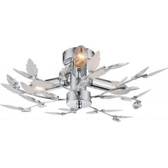 GLOBO 63100-3 | Vida Globo stropné svietidlo 3x E14 chróm, biela, krištáľ