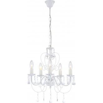 GLOBO 63126-5 | Pinja Globo luster svietidlo 5x E14 biela, priesvitné