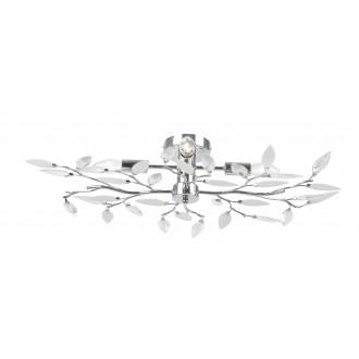 GLOBO 63160-4 | Vida Globo stropné svietidlo 4x E14 chróm, priesvitné, biela