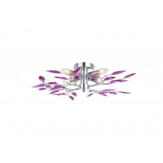 GLOBO 63165-4 | Libra Globo stropné svietidlo 4x E14 chróm, fialová, biela