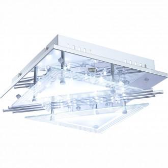 GLOBO 68246-4 | Spinosa Globo stropné svietidlo diaľkový ovládač 4x G9 + 48x LED chróm, priesvitné, saténový