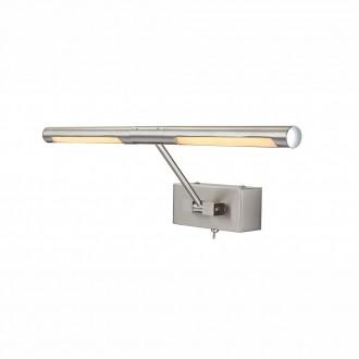 GLOBO 78300 | Picture Globo stenové svietidlo prepínač otáčateľný svetelný zdroj 2x LED 360lm 3000K chróm, matný nikel