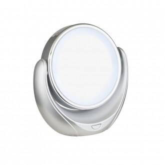 GLOBO 84026 | Towada Globo prenosné zrkalový prepínač 1x LED strieborný, biela, zrkalový