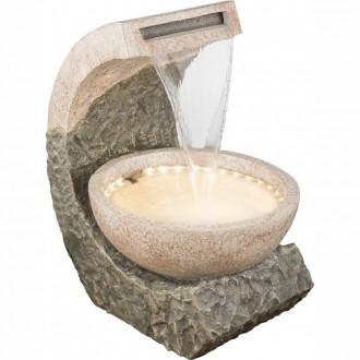 GLOBO 93018 | Globo izbová fontána svietidlo 36x LED IP44 hnedá, kameň