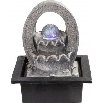 GLOBO 93020 | Globo izbová fontána svietidlo meniace farbu 4x LED sivé, kameň