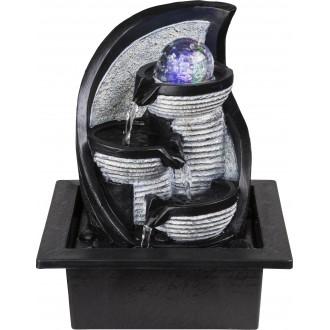 GLOBO 93022 | Globo izbová fontána svietidlo meniace farbu 4x LED sivé, čierna, kameň