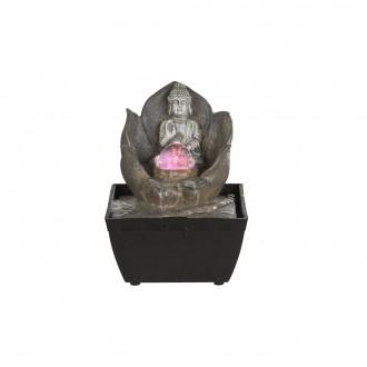 GLOBO 93026 | Globo izbová fontána svietidlo meniace farbu 1x LED RGBK čierna, antický