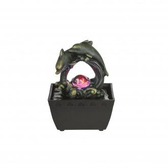 GLOBO 93027 | Globo izbová fontána svietidlo meniace farbu 1x LED RGBK čierna, antický