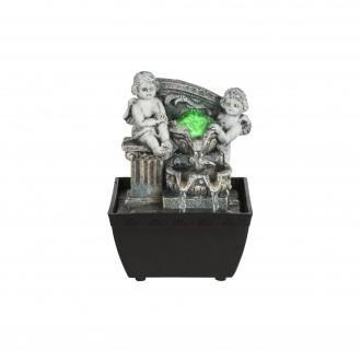 GLOBO 93028 | Globo izbová fontána svietidlo meniace farbu 1x LED RGBK čierna, antický