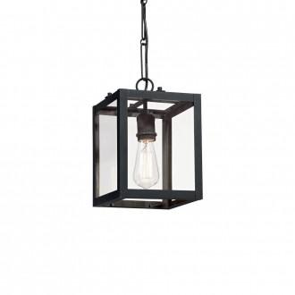 IDEAL LUX 092850 | Igor-IL Ideal Lux visiace svietidlo - IGOR SP1 NERO - 1x E27 matná čierna, priesvitné
