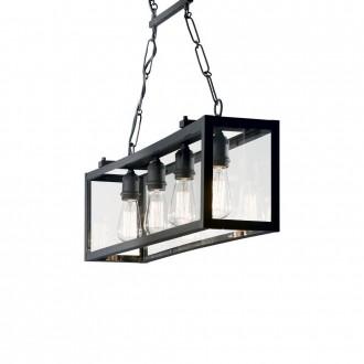IDEAL LUX 092942 | Igor-IL Ideal Lux visiace svietidlo - IGOR SP4 NERO - 4x E27 matná čierna, priesvitné