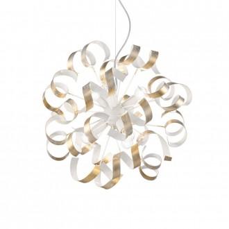 IDEAL LUX 101606 | Vortex Ideal Lux visiace svietidlo - VORTEX SP6 ORO - 6x E14 biela, opál, zlatý