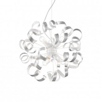 IDEAL LUX 101613 | Vortex Ideal Lux visiace svietidlo - VORTEX SP6 ARGENTO - 6x E14 biela, opál, strieborný