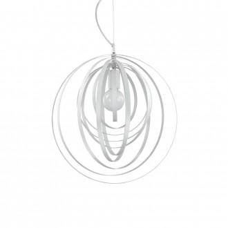 IDEAL LUX 103723 | Disco-IL Ideal Lux visiace svietidlo - DISCO SP1 BIANCO - otočné prvky 1x E27 matný biely