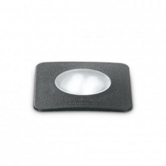 IDEAL LUX 120317 | Ceci-IL Ideal Lux zabudovateľné 5000 kg svietidlo - CECI PT1 SQUARE SMALL - UV vzdorný plast 90x90mm 1x GU10 4000K IP67 UV čierna, opál