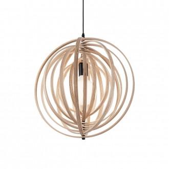 IDEAL LUX 138275 | Disco-IL Ideal Lux visiace svietidlo - DISCO SP1 LEGNO - otočné prvky 1x E27 drevo