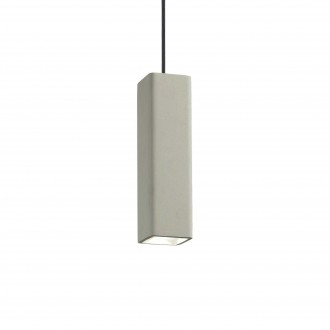 IDEAL LUX 150673 | Oak-IL Ideal Lux visiace svietidlo - OAK SP1 SQUARE CEMENTO - malovatelné 1x GU10 sivé