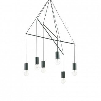 IDEAL LUX 158815 | Pop-IL Ideal Lux visiace svietidlo - POP SP6 NERO - 6x E27 matná čierna