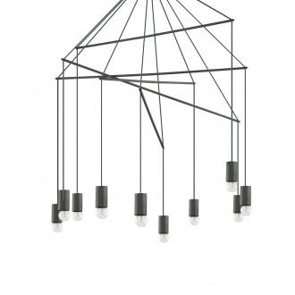 IDEAL LUX 158860 | Pop-IL Ideal Lux visiace svietidlo - POP SP10 NERO - 10x E27 matná čierna
