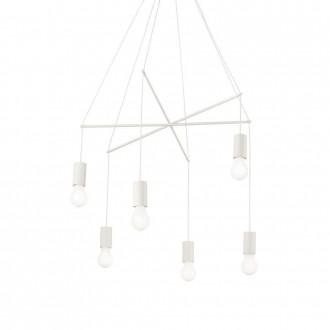 IDEAL LUX 186795 | Pop-IL Ideal Lux visiace svietidlo - POP SP6 BIANCO - 6x E27 matný biely