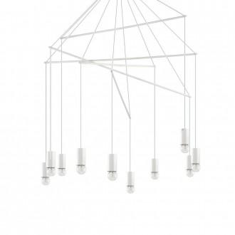 IDEAL LUX 186801 | Pop-IL Ideal Lux visiace svietidlo - POP SP10 BIANCO - 10x E27 matný biely