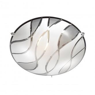ITALUX C29367YK-2 | Naomi-IT Italux stropné svietidlo 1x E27 chróm, biela, priesvitná