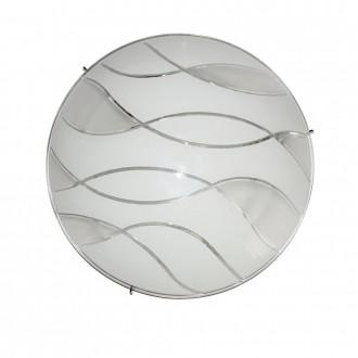 ITALUX C29367YK-3 | Naomi-IT Italux stropné svietidlo 2x E27 chróm, biela, priesvitná
