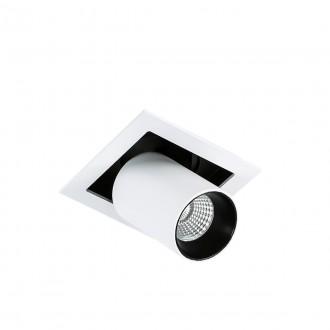 ITALUX GL7117-1/12W 4000K WH+BL | Mercanta Italux zabudovateľné svietidlo otočné prvky Ø60mm 1x LED 810lm 4000K čierna, biela