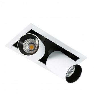 ITALUX GL7117-2/12W 3000K WH+BL | Mercanta Italux zabudovateľné svietidlo otočné prvky Ø60mm 1x LED 1640lm 3000K čierna, biela