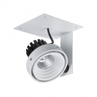 ITALUX GL7118-1/1X12W 4000K WH+BL | Patrizio Italux spot svietidlo otočné prvky 1x LED 980lm 4000K čierna, biela