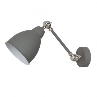 ITALUX MB-HN5010-1-GR   Sonny Italux stenové svietidlo 1x E27 sivé, chróm