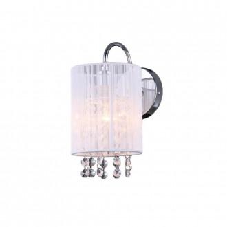 ITALUX MBM1787/1 WH | Lana-IT Italux stenové svietidlo 1x E14 chróm, biela, priesvitné