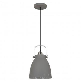 ITALUX MD-HN8026M-GR+S.NICK | Franklin Italux visiace svietidlo 1x E27 matná šedá, chrom, matné