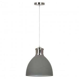 ITALUX MD-HN8100-GR+S.NICK | Lola-IT Italux visiace svietidlo 1x E27 matná šedá, chróm