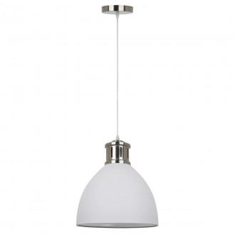ITALUX MD-HN8100-WH+S.NICK | Lola-IT Italux visiace svietidlo 1x E27 matný biely, chróm