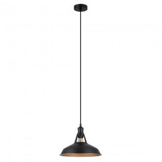 ITALUX MDM-2315/1 M BK+GD | Freya-IT Italux visiace svietidlo 1x E27 čierna, matné zlato