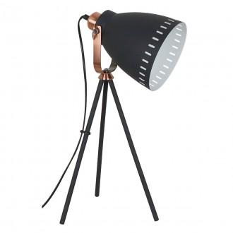 ITALUX ML-HN2278-B+RC | Franklin Italux stolové svietidlo 54cm prepínač otočné prvky 1x E27 mosadz, čierna, biela