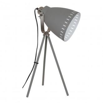 ITALUX ML-HN2278-GR+S.NICK | Franklin Italux stolové svietidlo 54cm prepínač otočné prvky 1x E27 matná šedá, chrom, matné