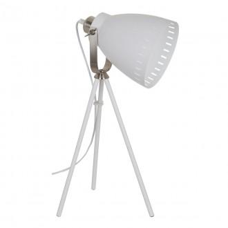 ITALUX ML-HN2278-WH+S.NICK | Franklin Italux stolové svietidlo 54cm prepínač otočné prvky 1x E27 matný biely, chrom, matné