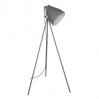 ITALUX ML-HN3068-GR+S.NICK | Franklin Italux stojaté svietidlo 144,5cm prepínač otočné prvky 1x E27 matná šedá, chrom, matné