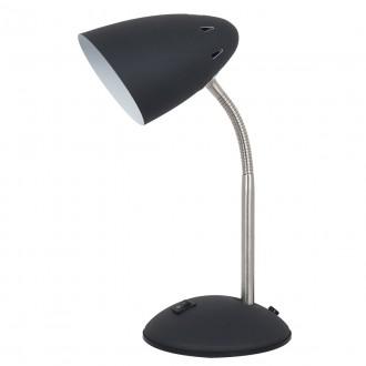 ITALUX MT-HN2013-B+RC   Cosmic-IT Italux stolové svietidlo 30cm prepínač flexibilné 1x E27 čierna, chróm, biela