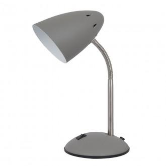 ITALUX MT-HN2013-GR+S.NICK | Cosmic-IT Italux stolové svietidlo 30cm prepínač flexibilné 1x E27 sivé, matný nikel