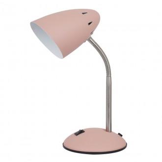 ITALUX MT-HN2013-PINK+S.NICK | Cosmic-IT Italux stolové svietidlo 30cm prepínač flexibilné 1x E27 ružové, matný nikel