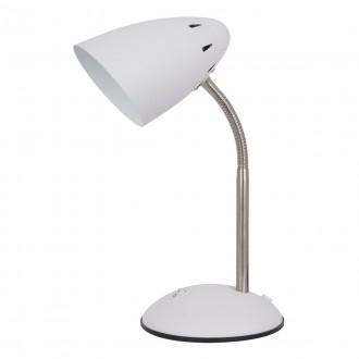 ITALUX MT-HN2013-WH+S.NICK | Cosmic-IT Italux stolové svietidlo 30cm prepínač flexibilné 1x E27 biela, matný nikel